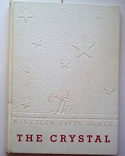 1953 Lexington High School Yearbook - The Crystal - Lexington VA