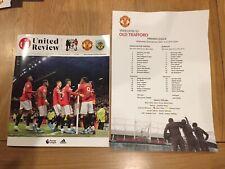 Manchester United V Burnley 2019-20 With Teamsheet
