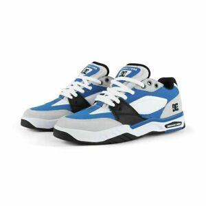 DC MEN'S MASWELL BLUE/BLACK/WHITE SKATE SHOES TRAINERS UK 10.5 EU 45
