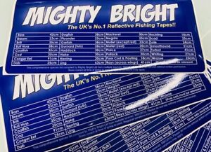 UK Sea Fishing Minimum landing size Fish guide- Tackle Box Stickers