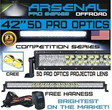 "No.1 5D 40"" Pro Optics Arsenal Offroad LED Light Bar New 2018 Design Flood/Spot"