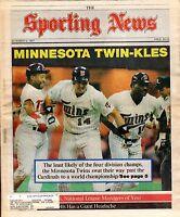 The Sporting News, 11/2/1987, Baseball magazine, Kirby Puckett, Kent Hrbek~Twins