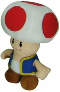 "Nintendo Super Mario Brothers Bros Toad Plush Figure Stuffed Gift Toy Kids 8"""