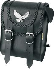 Willie & Max Black Magic Leather Motorcycle Black Sissy Bar Bag Harley Davidson