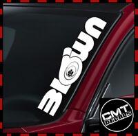 Windscreen Decal Blow Turbo Car Sticker euro DUB JDM Tuned 17 Colours 550mm