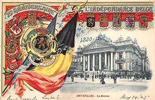 B93909 bruxelles la bourse l independance belge herladic litho belgium patriotic