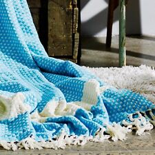 SUMMER THROW - QUEEN SIZE 200cm x 250cm Luxuriously Soft 100% TURKISH COTTON