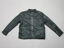 TRUE RELIGION BRAND MENS BLACK COWHIDE L/S RACER LEATHER JACKET SIZE 2XL XXL NEW