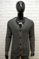 Selected Homme Maglione Uomo Pullover Cardigan Taglia L Lana Sweatshirt Grigio