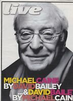 MICHAEL CAINE BY DAVID BAILEY   RAVI SHANKI'S      -     LIVE MAIL ON SUNDAY MAG