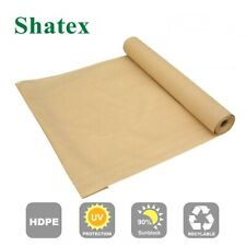 Shatex 90% Shade Cloth 6X15ft Wheat for Pergola Patio Protect Plants in Summer