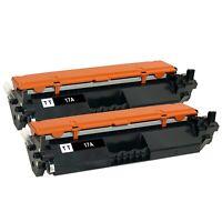2 x NEW CHIP CF217A Toner Cartridge For HP 17A LaserJet M102w M104 M130fn M130fw