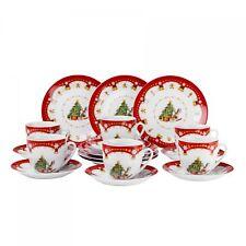 Kaffeeservice Weihnachtszauber 36tlg 12 Personen weiß Weihnachtsdekor Advent