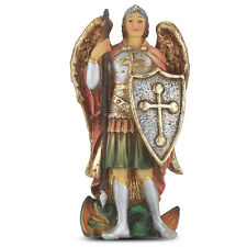 Statue St Michael the Archangel 4 inch Painted Resin Figurine Patron Catholic