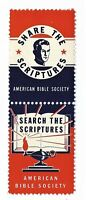 American Bible Society Patriotic (Red White & Blue) Pair Cinderella Stamps