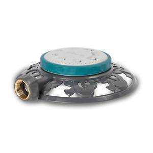 Stationary Sprinkler 1,225 sq. ft. 8-Pattern Durable Metal base Watering Tool