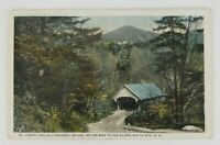 Postcard Mt. Liberty Covered Bridge Flume White Mountains New Hampshire