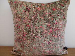 Liberty Mawston Meadow Modern Floral Pollen & Velvet Fabric Cushion Cover Arts