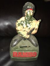 Rare RAMBO Vintage Coin Bank - SYLVESTER STALLONE - Hard to find item - Plastic