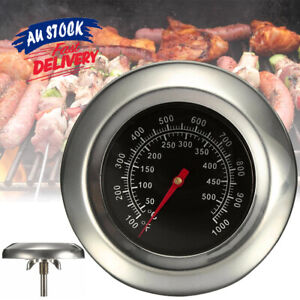 50-500℃ BBQ Grill Smoker Temperature Barbecue Gauge Stainless Steel Thermometer