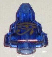 LEGO - Rock Stepped (Moonstone) w/ Gold Egyptian Eye of Horus - Trans Purple