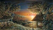 Sunset Retreat By Terry Redlin Signed and Numbered Cabin Lake Print