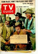 VINTAGE - TV GUIDE AUG 15TH 1964 - WAGON TRAIN - ROBERT FULLER - VERY GOOD