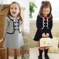 Fall/Spring Baby Girls Long Sleeve Coat Outerwear Party Dress Fashion