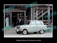 OLD POSTCARD SIZE PHOTO OF 1962 MITSUBISHI MINICA LAUNCH PRESS PHOTO 2