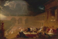John Martin Belshazzar/'s Feast Giclee Canvas Print Paintings Poster 60x90cm