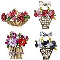 Wedding Women Crystal Bouquet Brooch Pin Butterfly Flower Breastpin Costume