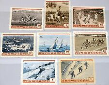 RUSSIA SOWJETUNION 1954 1710-17 Sport Basketball Bicycle Skiing Swimming MNH