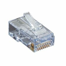 Black Box Cat6 Ez-rj45 Modular Plugs, 100-pack - 100 Pack - 1 X Rj-45 Male