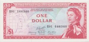 East Caribbean States 1965 1 Dollar P# 13g Uncirculated