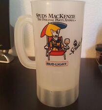 Vintage Bud Light SPUDS MACKENZIE Beer Mug Plastic GIANT GULP 32 oz.