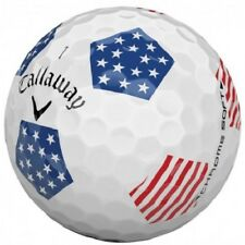 24 Callaway Chrome Soft Truvis Aaaa Red/White/Blue Usa Flag Used Golf Balls