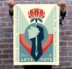 Obey Arts VoteArtsvote Signed & Numbered Screen Print LE XX/500