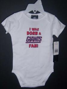 Gerber NFL NY Giants Short Sleeve One-piece, Baby Shower, 18 or 24 Months