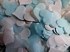 Baby Blue & White Hearts Wedding Throwing Confetti Baby Reveal FILL CONES Bio