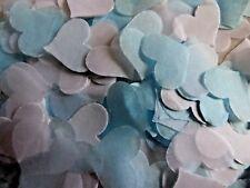 Bébé Bleu & Blanc Coeurs Mariage lancer Confettis Baby révéler remplir Cônes Bio