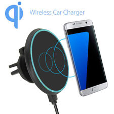 Qi Wireless Car Charger Magnetic Air Vent Mount for Samsung Galaxy S8 iPhone 8/X