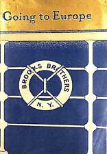Rare Brooks Brothers Going to Europe 1920s Booklet