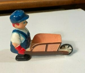 Vintage Plastic Toy Walker Cement or Construction Worker Made in Japan 1960s