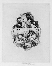 ROBERT SARGENT AUSTIN 'Spring Lambs, signed 1946 engraving