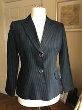 PRECIS PETITE  size 12 Fitted Linen Mix Jacket, pinstripe and Navy.
