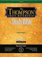 KJV Thompson Chain-Reference Bible, Large Print, Black  Bonded Leather, Thumb