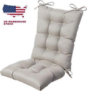 Rocking Chair Cushion Set Non-Slip Pad Cover Seat Outdoor Rocker Gray