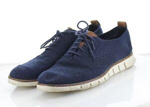 17-59 $180 Men's Sz 9.5 M Cole Haan ZeroGrand Stitchlite Textile Sneakers - Navy