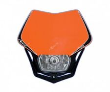 Mascherina portafaro Racetech V-Face arancio headlight