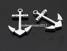 10pc  Tibetan Silver anchor Charm Beads Pendant accessories wholesale  PL340